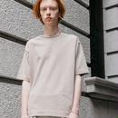 新疆綿甘撚りビッグTシャツ【ベージュ】 L-05