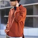 LIDnM×RYO ドライウールタッチオープンカラーシャツ【オレンジ】L-90