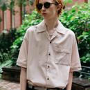 パイピングオープンカラーシャツ【ピンク】 L-18