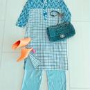 Malaysian BATIK DRESS [BLUE]