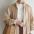 Euro Vintage Beige Shirt Dress
