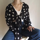 80's see through dot  blouse