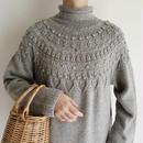 Euro Vintage Pom Pom Long Knit Dress