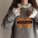 USA Heather Gray College Flock Print Sweat