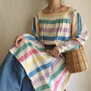 vintage mulch striped cotton dress