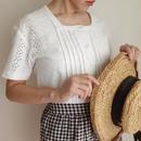 cotton cut work lace  blouse