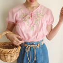 flower embroidery tunic
