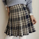 80's  eurovintage plaid pleats skirt