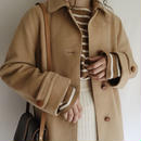eurovintage camel hair × wool long coat