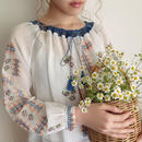 eurovintage embroidery blouse