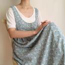 INDIA 90's pale blue flower print  nosleeve dress