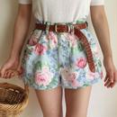 USA 80's  flower print short pants
