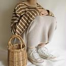 Euro  Vintage knit long skirt