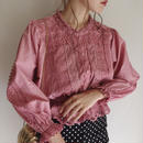 dasky pink lace design blouse