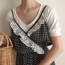 USA 80's dot print  flare camisole dress