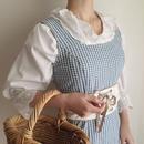 80's gingham check cotton dress