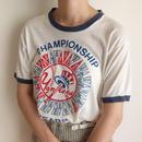 USA 80's yankees championship year ringer tee