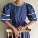 Euro  Vintage dot  print  flare dress