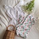USA health knit  strawberry print  thermal pants