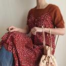 80-90's flower print camisole dress