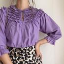 india cotton frill design blouse