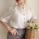 eurovintage tirol ribbon design blouse