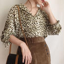 see through leopard blouse