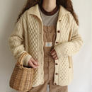 60's - 70's Irish Cable Knit Cardigan
