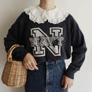 USA 80's U.N.Navy Logo Print Sweat