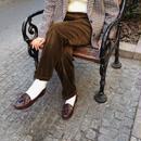 Euro Vintage Deep Brown Corduroy Pants