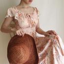 70's USA flower print  dress