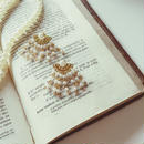 Vintage pearl chain 2way Pierce