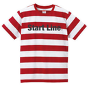 Start Line Border T-shirt(Red)