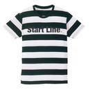 Start Line Border T-shirt (Black)