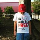 FREE Active T-shirt/フリーアクティブTシャツ(White/ホワイト)  キッズ