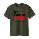 【残り2点】FREE Active T-shirt/フリーアクティブTシャツ(Khaki/カーキ)メンズ限定カラー