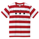 Message Border Kids T-shirt(Red)