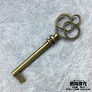 鍵風ペンダント素材 6.0cm 金属製 商品番号K-0008