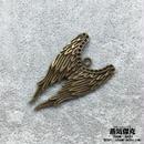 【3点セット】3.9cm天使の翼 金属製 ブラスカラー 商品番号W-0001