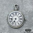 懐中時計風ペンダント素材 金属製パーツ リアル風ダイアル レジン表面 商品番号T-0023