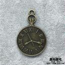 【2点セット】時計風ペンダント素材 金属製パーツ 商品番号T-0021