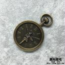 【3点セット】時計風素材 妖精柄 54mm x 37mm 金属製パーツ 商品番号T-0006