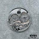 【2点セット】時計地盤風ペンダント素材 金属製パーツ 商品番号T-0020