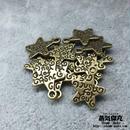 【20点セット】五芒星風ペンダント素材 12.4mm x 10.2mm 金属製ハンドメイド素材 商品番号S-0049