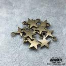 【20点セット】五芒星風ペンダント素材 11.3mm x 8.5mm 金属製ハンドメイド素材 商品番号S-0050
