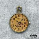 懐中時計風素材 金属製パーツ リアル風ダイアル 花柄 レジン表面 商品番号T-0026