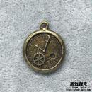 【3点セット】懐中時計風ペンダント素材 金属製パーツ 商品番号T-0030
