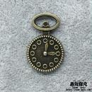 【4点セット】時計風素材 金属製パーツ 商品番号T-0033