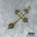 十字架 66.84mm クロス  Cross 金属製 ブラスカラー 商品番号C-0011