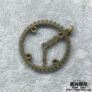 【10点セット】歯車時計風ペンダント素材 34mm x 29mm 金属製パーツ 商品番号T-0007